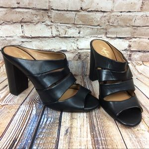 Arturo Chiang Strappy Mules Heels 9